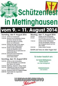 Plakat Schützenfest 2014