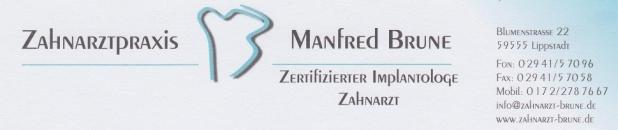 Zahnarzt Manfred Brune