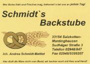 Sponsor - Backstube Schmidt