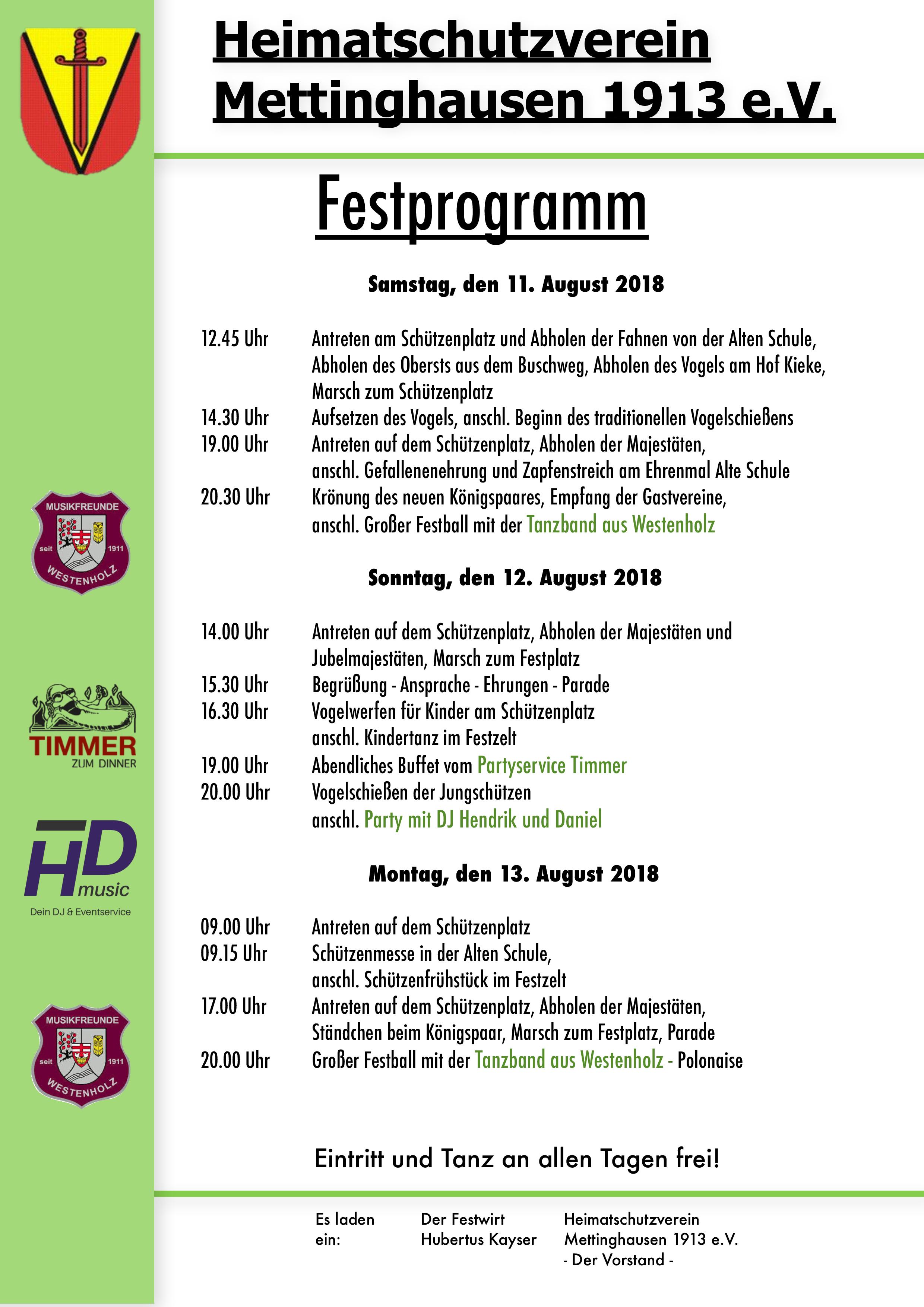 Festprogramm 2018